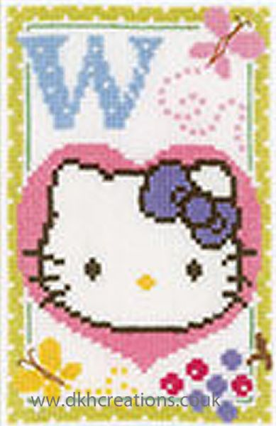 Hello Kitty Alphabet Letter W Cross Stitch Kit